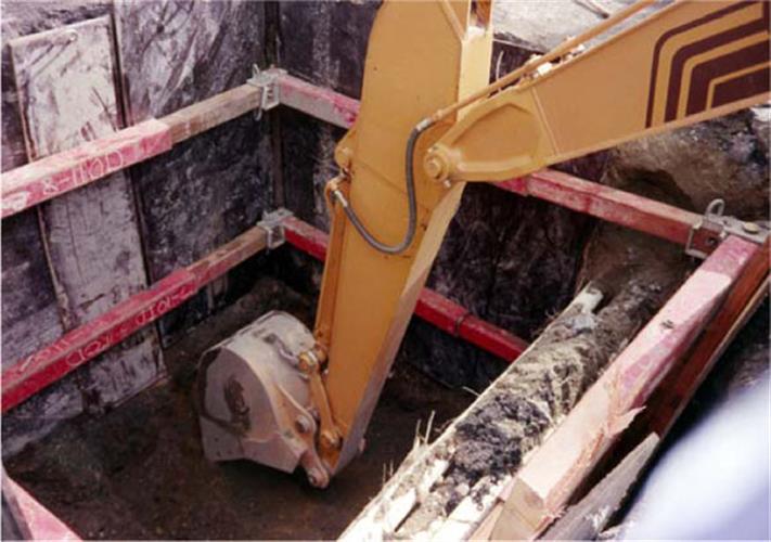 Manhole Excavation Braces Trenchtech Inc