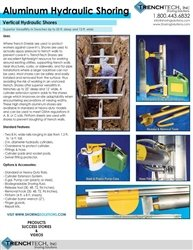 Aluminum Hydraulic Shoring - Catalog