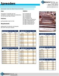 Trench Box Spreaders - Catalog