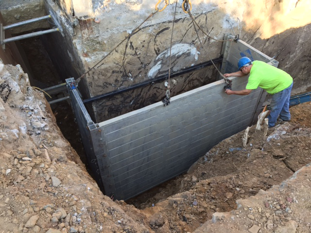 Aluminum Trench Box,Hydraulic Shores success story